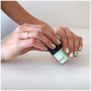 Paint Nail Lacquer Mint Sorbet model