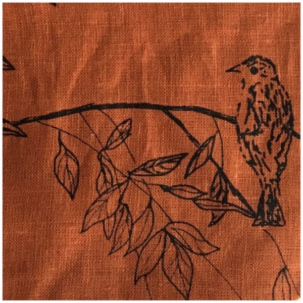 Helen Round Birdsong Burnt Orange