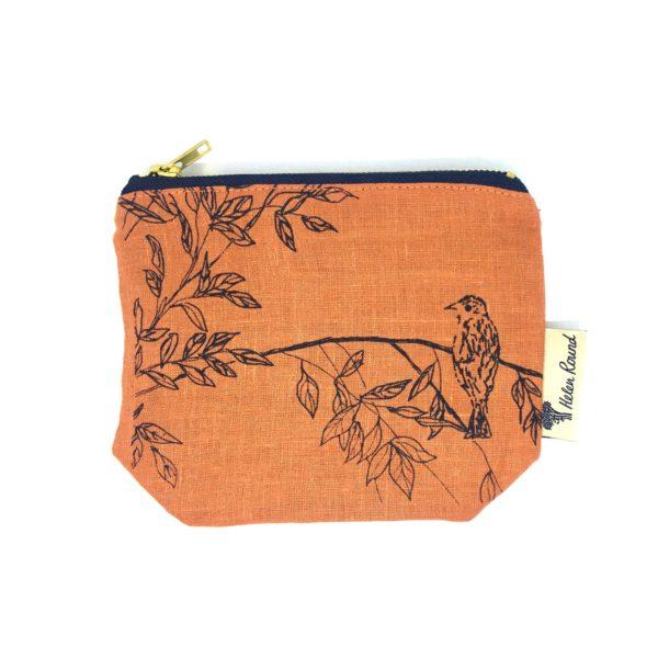 Helen Round Makeup Bag Birdsong Burnt Orange