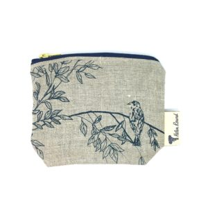 Helen Round Makeup Bag Birdsong Natural
