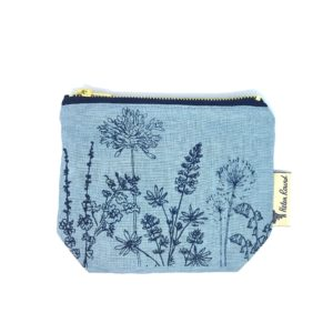 Helen Round Makeup Bag Garden Hollyhock